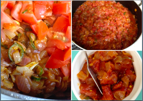 Tomato-based curry