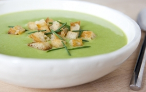 Creamy Spring Asparagus Soup from WF