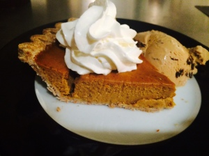 bourbon-infused pumpkin pie