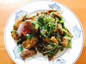 Thai style asian eggplant