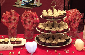 Vegan minicupcakes display